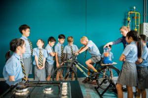 Pupils learning about kinetic energy at Rugby School Thailand