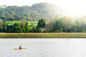 A canoe on the lake at Rugby School Thailand