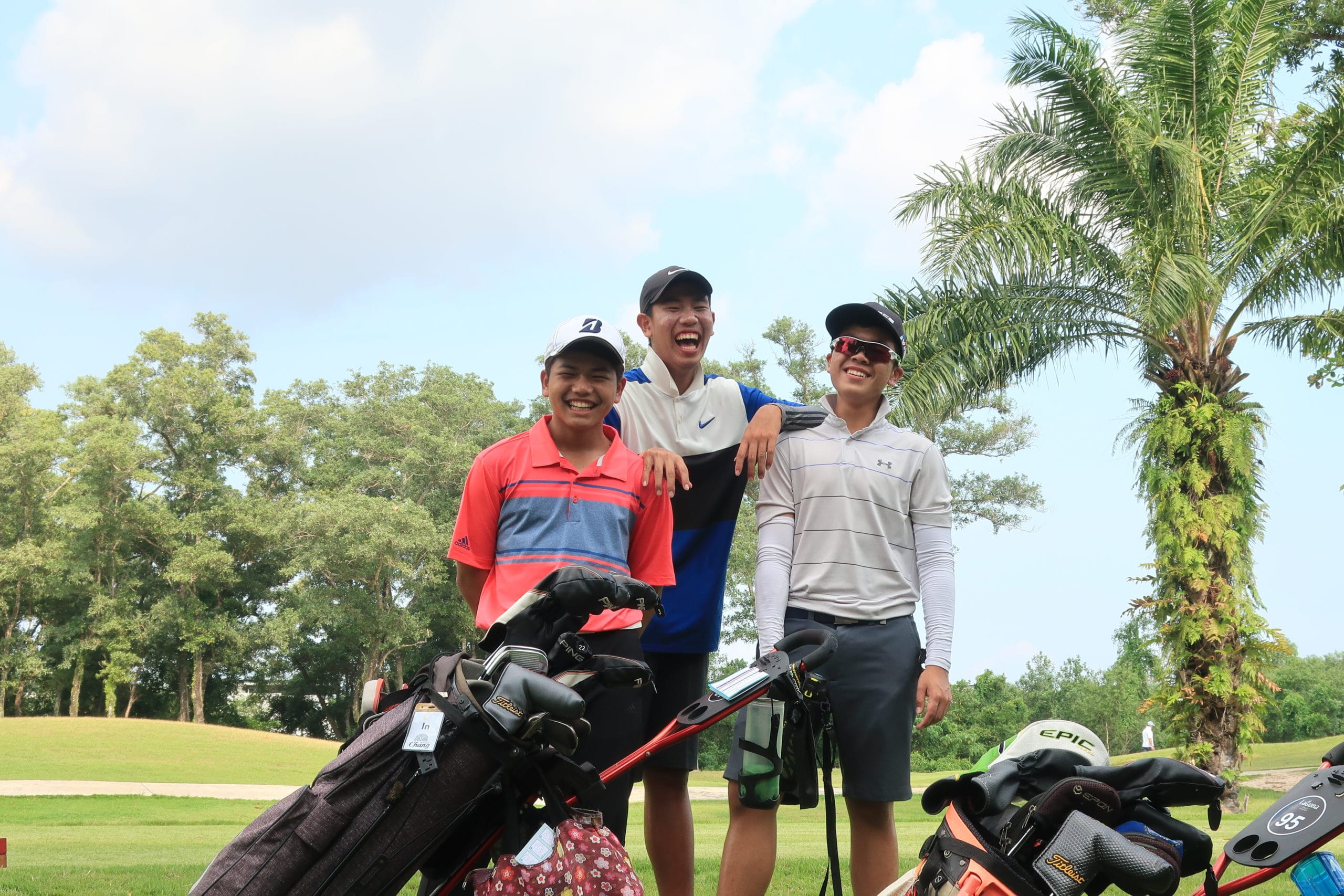 Rugby School Thailand golfers at the Faldo Series, Phuket