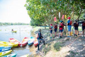 Rugby School Thailand pupils kayaking